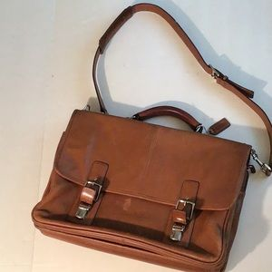 Coach Thompson Tobacco  Colored Leather Briefcase